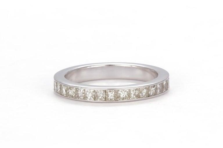 GIA Certified 18 Karat Gold and Princess Diamond Halo Wedding Set 3.58 Carat For Sale 2