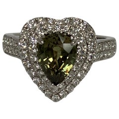 GIA Certified 1.90 Carat Alexandrite and Diamond Ring