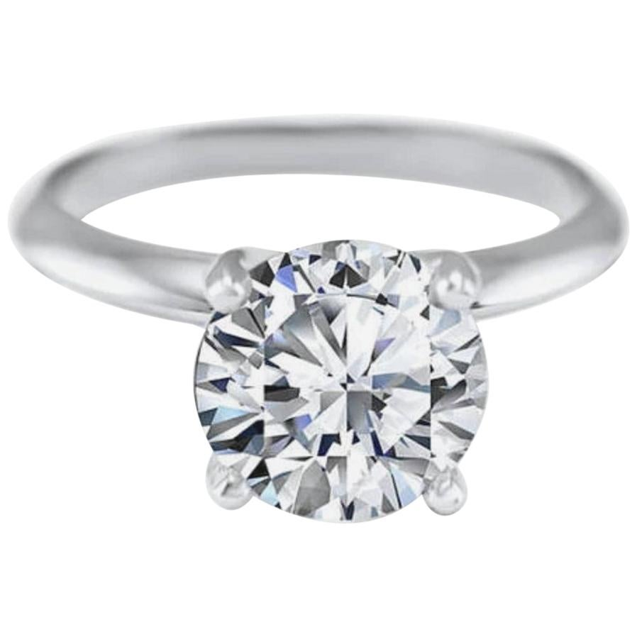 GIA Certified 1.90 Carat G SI1 Triple Excellent Cut Diamond Ring
