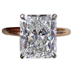GIA Certified 1.91 Carat Radiant Cut Diamond Ideal Cut 18 Karat Ring