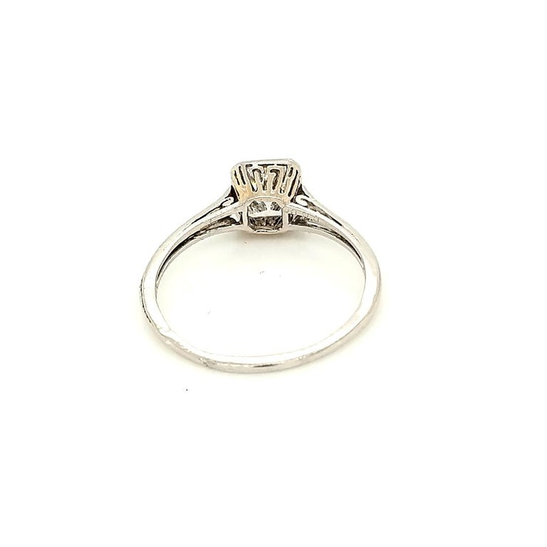 GIA Certified Asscher Cut 1925 Art Deco Platinum Diamond Engagement Ring For Sale 5