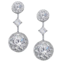 GIA Certified 19.19 Carat Important Diamond Earrings
