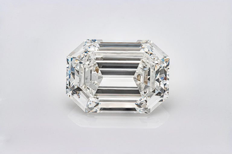 A rare and beautiful emerald cut diamond certified by GIA as H color, VVS 2 clarity. The diamond measures 19.41 X 13.91 X 8.43 mm with excellent polish and symmetry. Accompanied with GIA report.    Roman Malakov Diamonds specializes in custom made