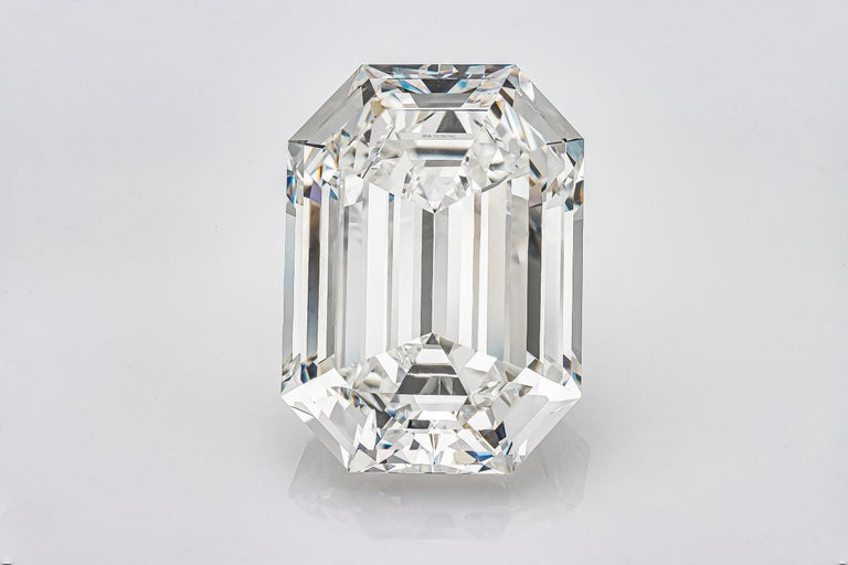 GIA Certified 19.43 Carat Emerald Cut Diamond, H-VVS2 In New Condition For Sale In New York, NY
