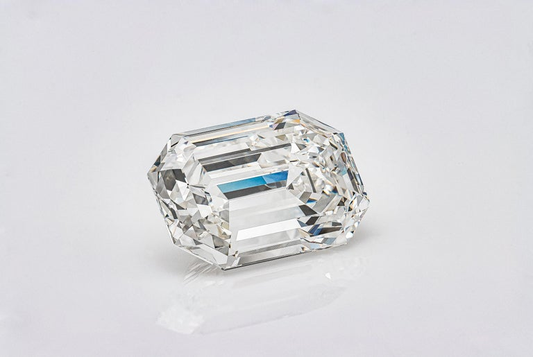 Women's or Men's GIA Certified 19.43 Carat Emerald Cut Diamond, H-VVS2 For Sale