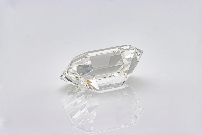 GIA Certified 19.43 Carat Emerald Cut Diamond, H-VVS2 For Sale 2