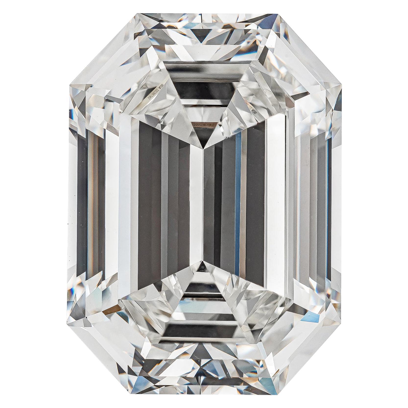 GIA Certified 19.43 Carat Emerald Cut Diamond, H-VVS2