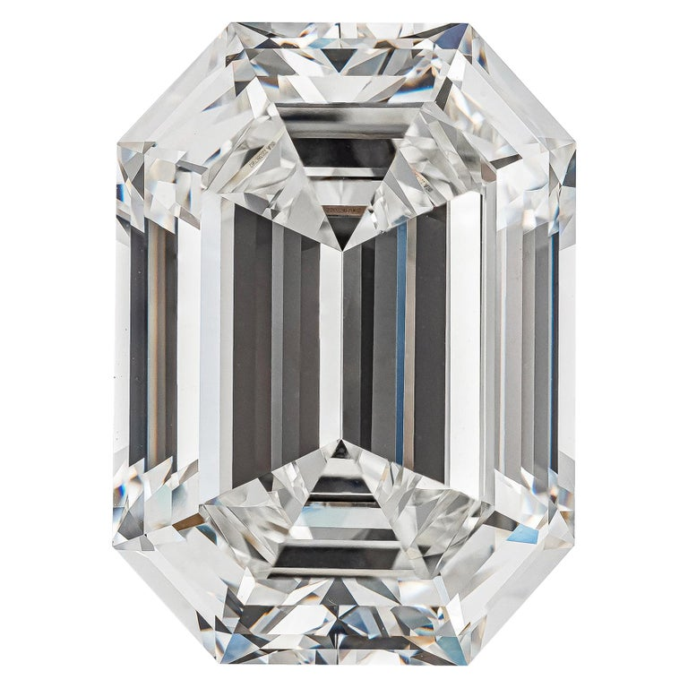 GIA Certified 19.43 Carat Emerald Cut Diamond, H-VVS2 For Sale