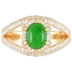 GIA Certified 2 Carat About Imperial Jadeite Jade Type A 18 Karat Gold Ring