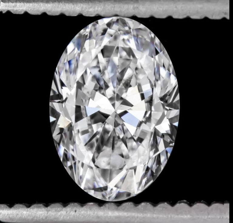 GIA Certified 2 Carat E SI2 Oval Cut Engagement Diamond ...