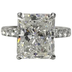 GIA Certified 2 Carat Long Radiant Diamond Ring G VS2