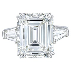 GIA Certified 2 Carat 'main stone' Emerald Cut Diamond Excellent Cut