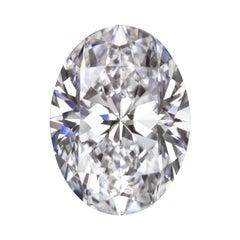 GIA Certified 2 Carat Oval Diamond F Color SI1 Clarity