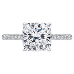 GIA Certified 2.01 Carat Cushion Diamond Ring