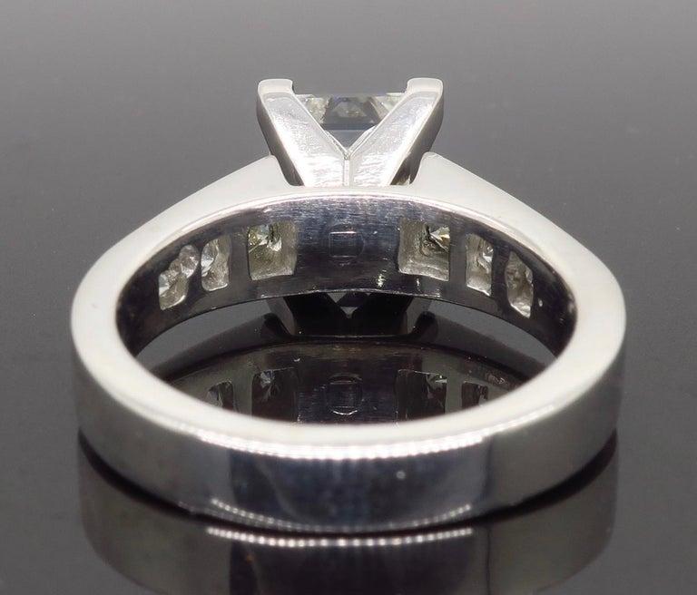 GIA Certified 2.01 Carat Diamond Platinum Engagement Ring For Sale 1