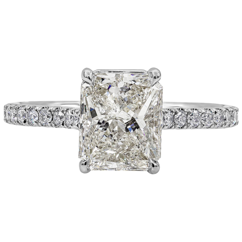 GIA Certified 2.01 Carat Radiant Cut Diamond Engagement Ring