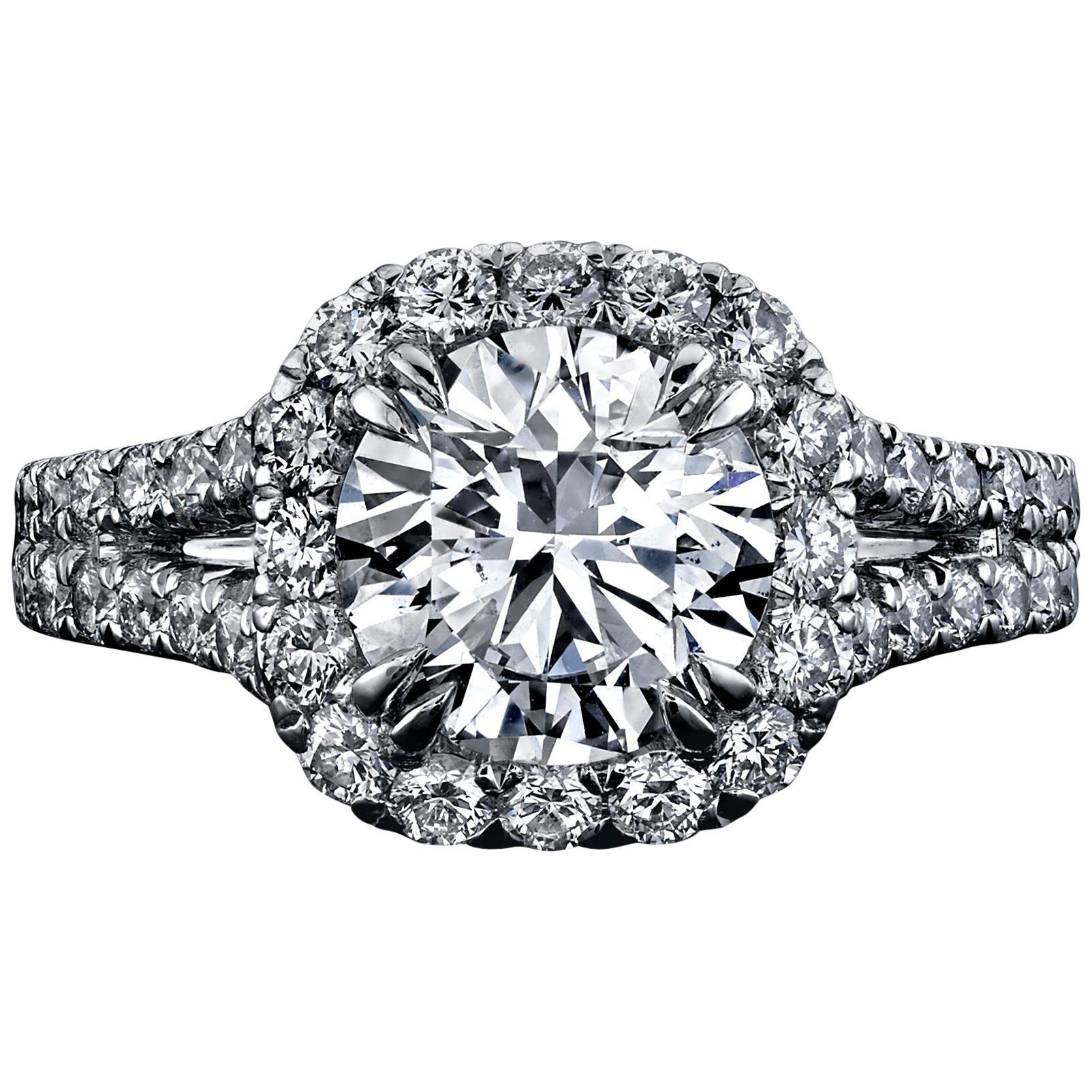 GIA Certified 2.01 Carat Round Brilliant Diamond Ring