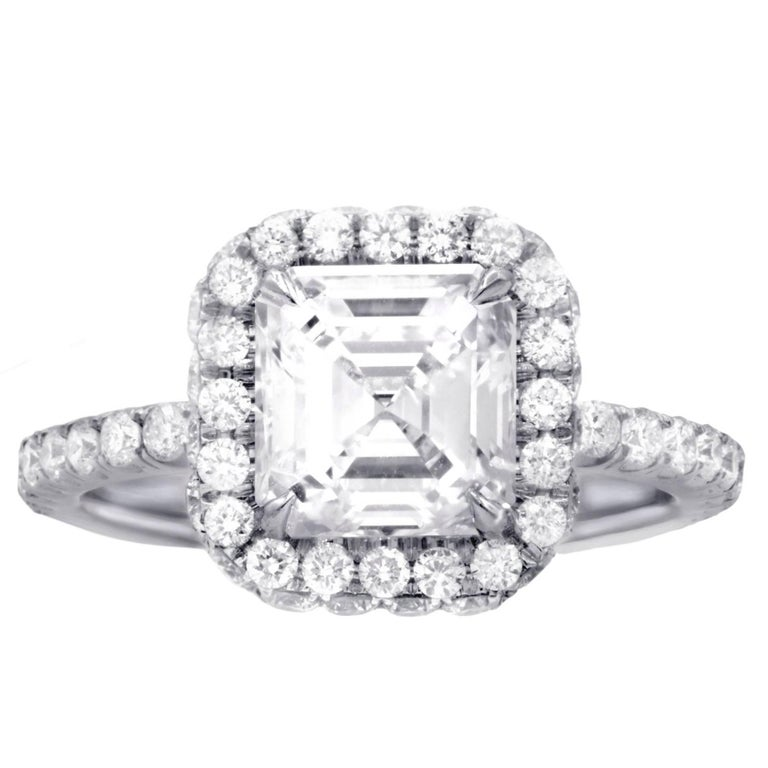 GIA Certified 2.01 G-VVS2 Engagement Ring For Sale