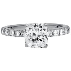 GIA Certified, 2.02 Carat D-SI Diamond Engagement Ring