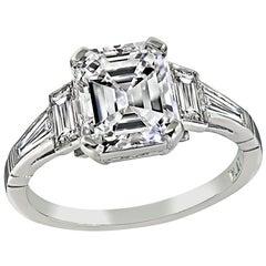 GIA Certified 2.02 Carat Diamond Engagement Ring