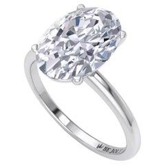 GIA Certified 2.02 Carat Oval Cut Diamond Engagement Ring 18 Karat White Gold