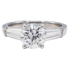 GIA Certified 2.02 Carat Round Brilliant F I1 Diamond Platinum Engagement Ring