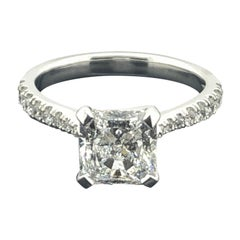GIA Certified, 2.02 Carat Square Radiant Cut, Solitaire Diamond Engagement Ring