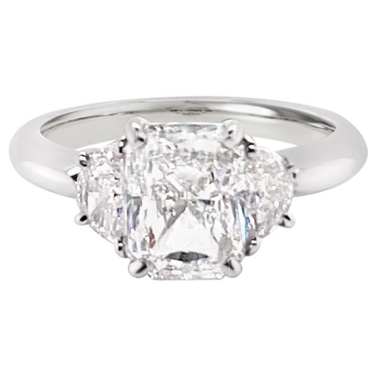 GIA Certified 2.03 Carat Radiant Cut Diamond Ring in Platinum
