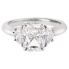 GIA Certified 2.03 Carat Radiant Cut Diamond Ring in Platinum