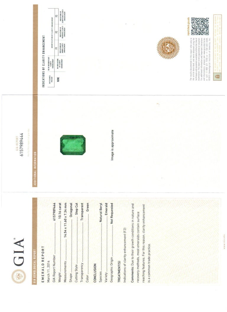 gia and earrings colombian diamond emerald certified ct catalogue