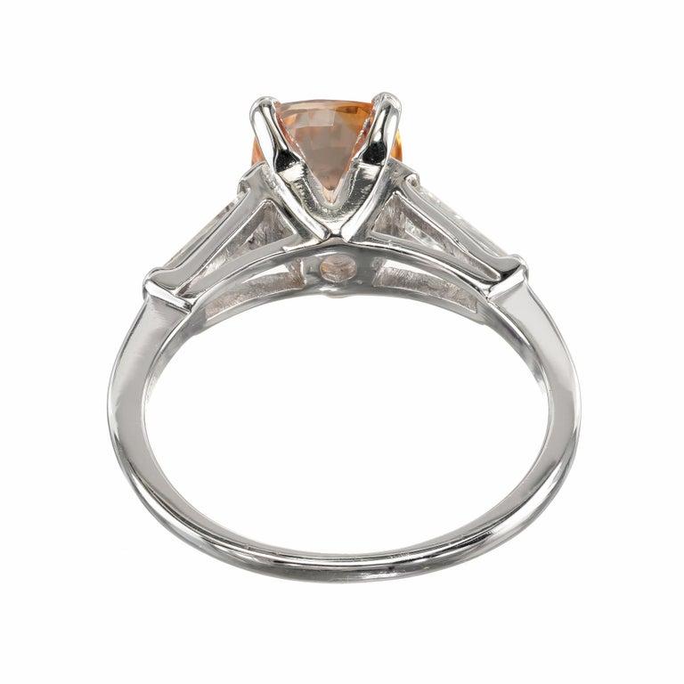 Women's GIA Certified 2.07 Carat Sapphire Diamond Platinum Three-Stone Engagement Ring For Sale