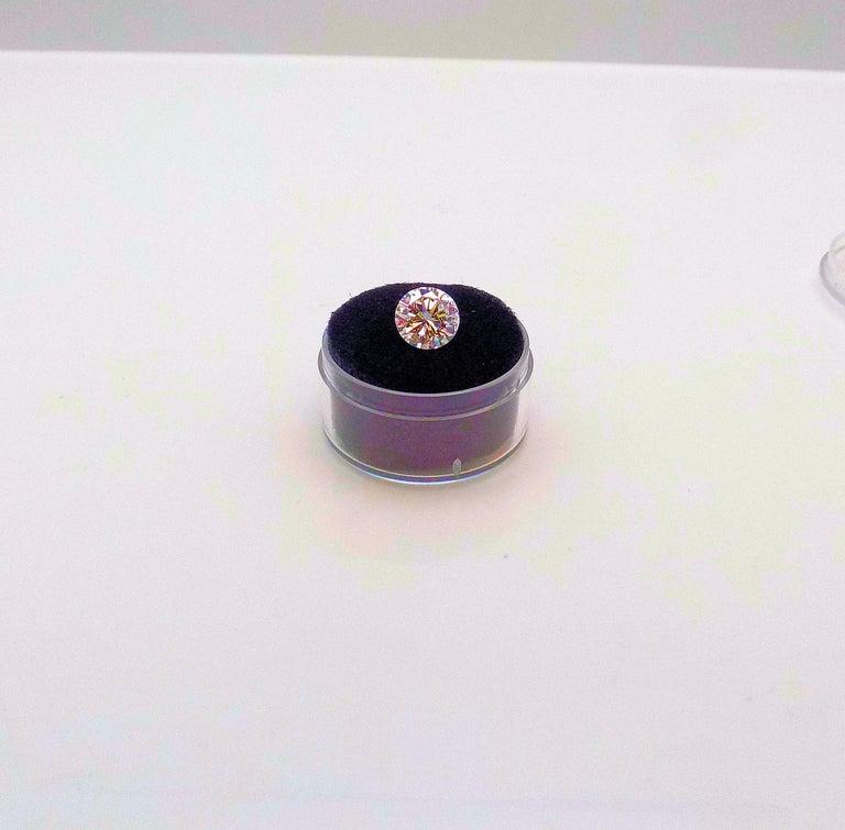 Round Cut GIA Certified 2.11 Carat Round Brilliant Diamond For Sale