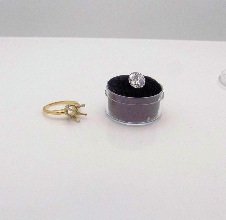 GIA Certified 2.11 Carat Round Brilliant Diamond For Sale 1