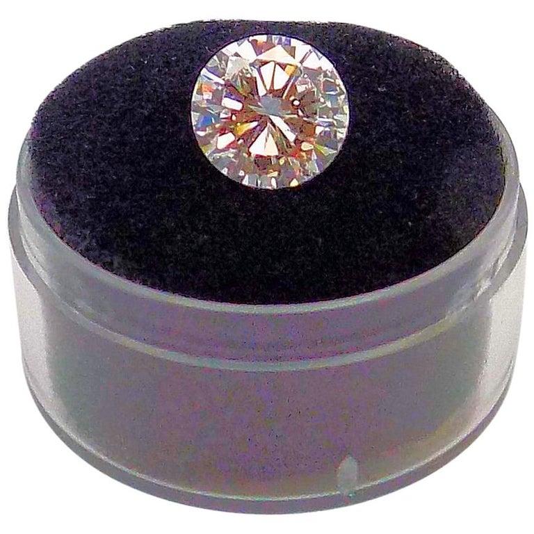 GIA Certified 2.11 Carat Round Brilliant Diamond For Sale