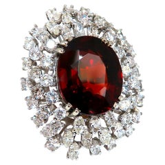 GIA Certified 21.23 Carat Natural Spessartite Garnet Cluster Ring 14 Karat Domed