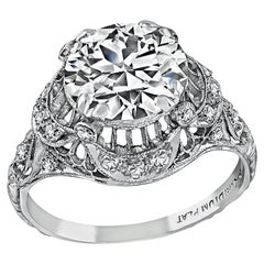 GIA Certified 2.16 Carat Diamond Art Deco Engagement Ring