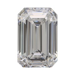 GIA Certified 2.20 Carat Emerald Cut Diamond D Color VVS1 Clarity