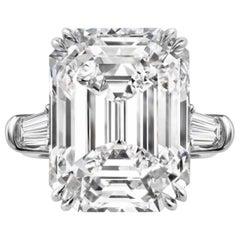 GIA Certified 2.21 Carat Emerald Cut 'main stone' Diamond Ring