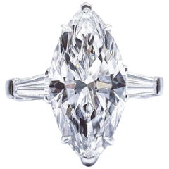 GIA Certified 2.20 Carat D Color VVS1 Clarity Ring