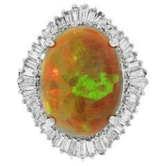 GIA Certified 23.08 Carat Opal Ring