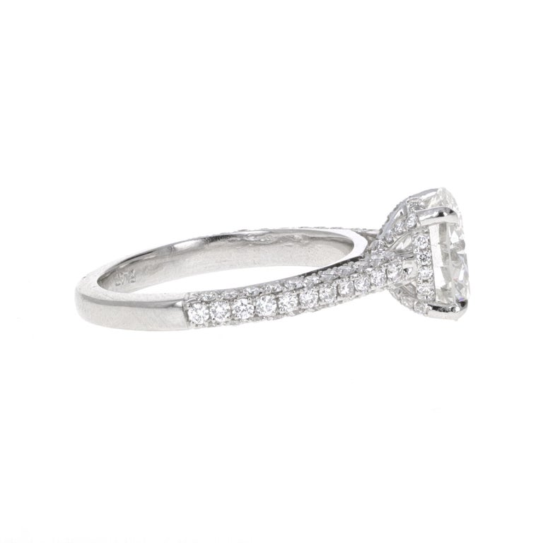 Modern GIA Certified, 2.32 Carat H- VVS2 Round Brilliant Diamond Engagement Ring