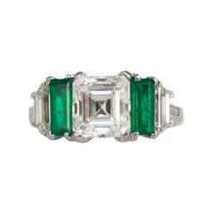 GIA Certified 2.34 Carat Diamond Platinum Engagement Ring