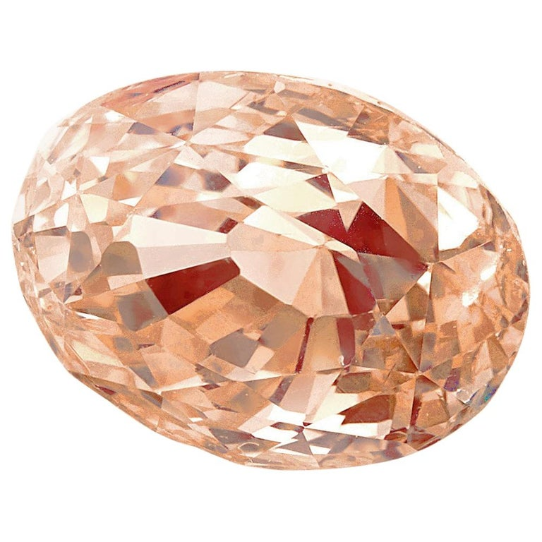 GIA Certified 2.34 Carat Oval Padparadscha Sapphire Loose Stone For Sale