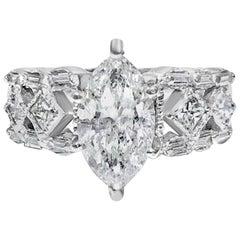 GIA Certified 2.35 Carat Diamond Engagement Ring