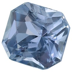GIA Certified 2.36 Octagonal Lavendar Blue Sapphire Loose Stone