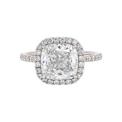 GIA Certified 2.83 Carat D Color Diamond Engagement Ring