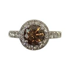 GIA Certified 2.50 Carat Natural Fancy Yellow Round Diamond Ring 18 Karat Gold
