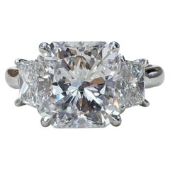GIA Certified 2.50 Carat Radiant Cut Diamond Ring VVS1 F Triple Excellent Cut