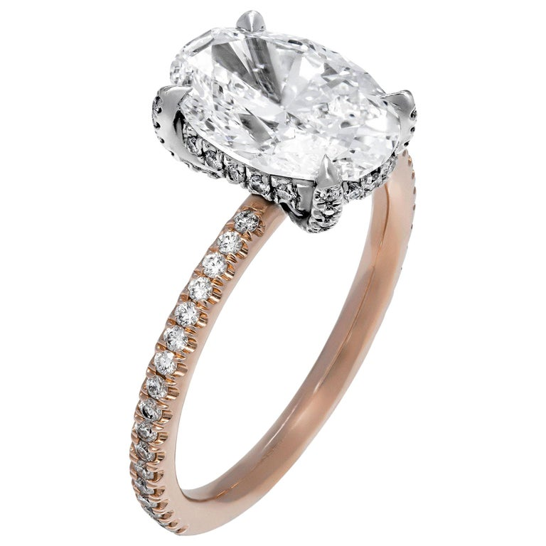 GIA Certified 2.51 Carat Oval Diamond Engagement Ring