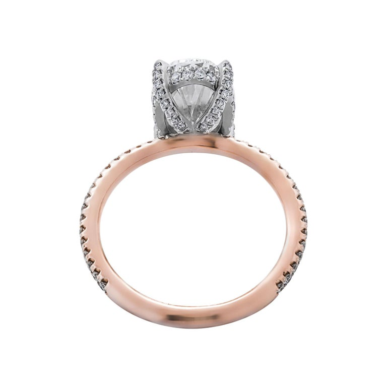 Oval Cut GIA Certified 2.51 Carat Oval Diamond Engagement Ring